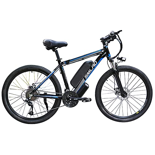 26 '' Electric Mountain Bike (48V 13A 350W) 21 Speed ​​Gear 3 Work Modes,black blue