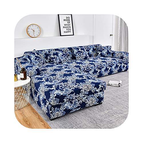Sofabezug, bedruckt, elastischer Sofabezug, für verschiedene Sofas, Sessel, großes Sofa, L-Farbe, 13-3 Seater und 3 Seater