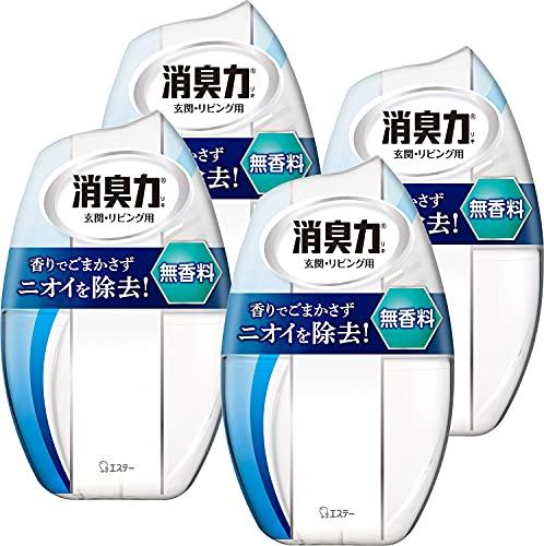【まとめ買い】お部屋の消臭力 部屋用 無香料 400ml×4個 部屋 玄関 リビング 消臭剤 消臭 芳香剤