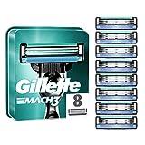 Gillette Mach3 - Pack de recambios de hojas de afeitar para hombre, 8 unidades
