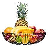karadrova Portafrutta Cesto Frutta Fruttiera Moderno Metallo Porta Fruttacesto Frutta Grande Cestino per Frutta 28x7 cm
