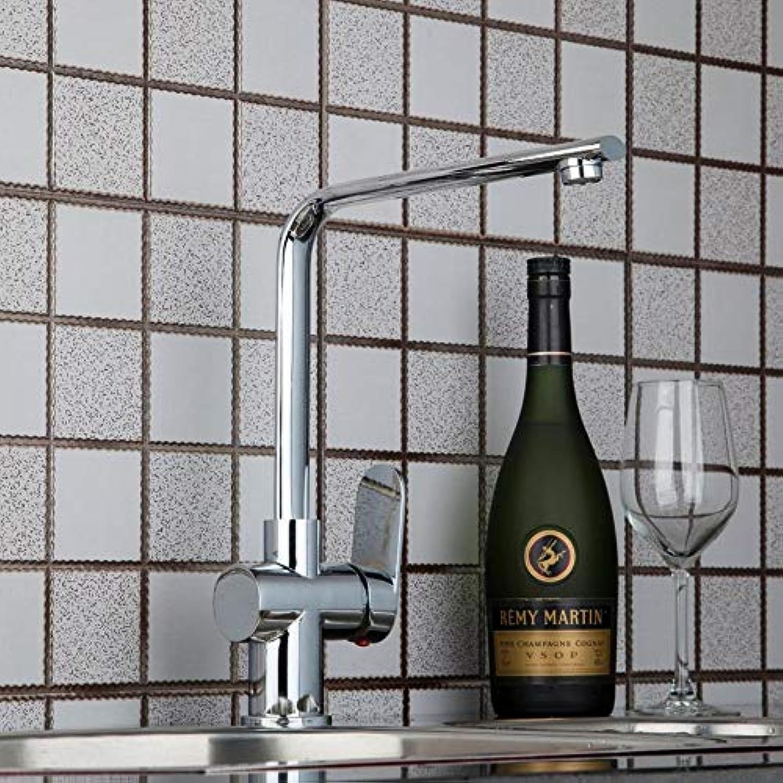Moderne Polierte Chrom Messing Swivel Küche Einhand-Auslauf Wasserhahn Küchenmischbatterien