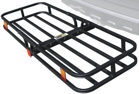 """MaxxHaul 70107 Hitch Mount Compact Cargo Carrier - 53"""" x 19-1/2"""" - 500 lb. Maximum Capacity for 2"""" Hitch Receiver"""