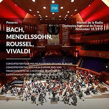 INA Presents: Bach, Mendelssohn, Roussel, Vivaldi by Orchestre National de France at the Maison de la Radio (Recorded 10th November 1977)