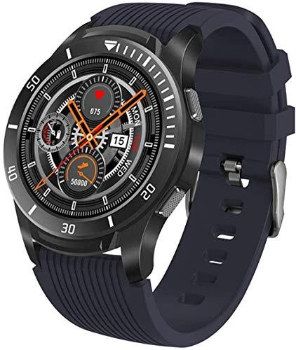 Reloj Inteligente de 1.3 pulgadas de alta definición Full Touch Screen Watch IP67 impermeable multifuncional podómetro para recordar la información de llamadas entrantes para Android e iOS-Azul