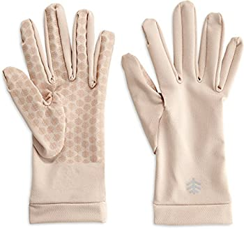 Coolibar UPF 50+ Unisex Sawyer UV Sun Gloves - Sun Protective  Small- Beige