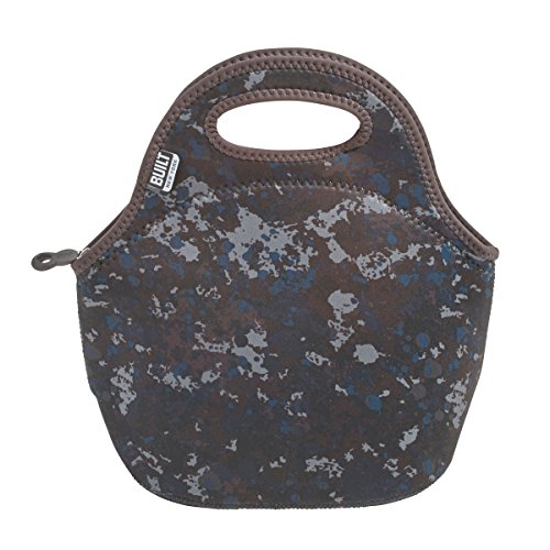 BUILT Gourmet Getaway Soft Neoprene Lunch Tote Bag - Lightweight, Insulated and Reusable, One Size, Tweed Camo
