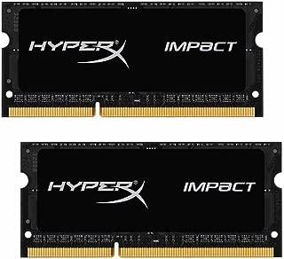 Kingston Technology HyperX Impact 16GB (2 x 8G) 204-Pin DDR3 SO-DIMM DDR3L 1600 MHz (PC3L 12800) Laptop Memory Model HX316LS9IBK2/16