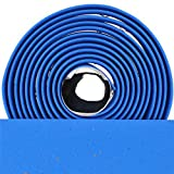 VELO PROX - Cinta de corcho fija para manillar de bicicleta, color azul