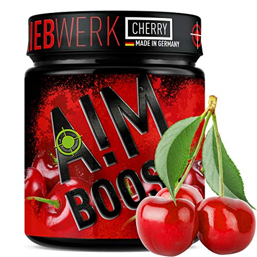 TRIEBWERK/Cherry/Performance Booster / 400g / 40 Portionen / 23 Wirkstoffe / 247mg Koffein + Tyrosin +Theanin + Vitamine