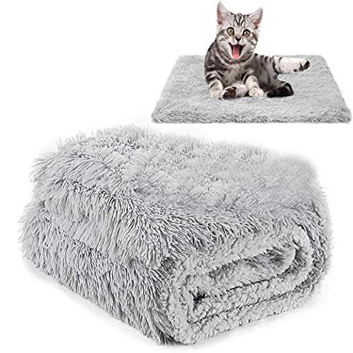 CHMMY Flauschig Hundedecke Weiche Katzendecke Fleecedecke Waschbare Deck für Haustier Hunde Katzen Welpen Weiche Warme Matte für Haustier Hunde Katze Welpe (Grey M: 54*78cm)