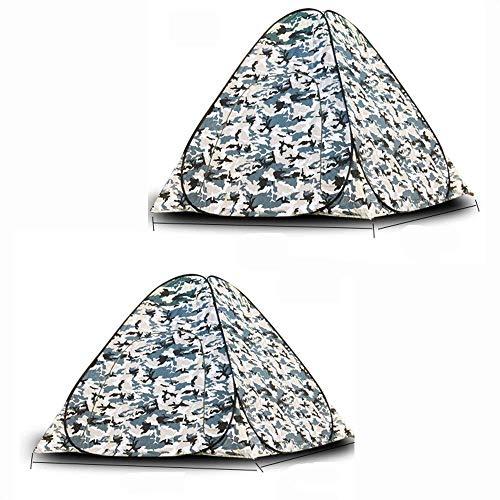 MotBach Tienda Tienda de campaña de Cuatro Esquinas Turismo al Aire Libre Turismo Medio Suela Tienda de Pesca de Invierno cálido 3-4 Personas Proteger contra el frío Unisex Outdoor Dome Tienda