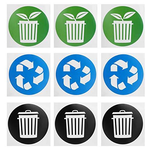 Omabeta Papierkorb Aufkleber Mülleimer Aufkleber Recycling Aufkleber Papieraufkleber 60 Stück/Set für Aluminiumdosen