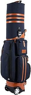 Iddefee Golf Bag Unisex Golf Travel Bag Waterproof PU Golf Multi-Function Bag Aviation Bag with Wheels, Password Lock 4 Color Options Golf Cart Bag (Color : C3, Size : 12520cm)