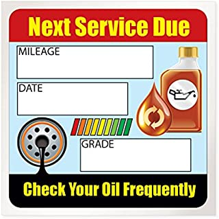 Best automotive lube service stickers Reviews