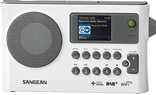 Sangean WFR-28C tragbares Internetradio - Radiowecker mit Dual Alarm und Weckfunktion - DAB+ Radio mit USB, Music Streaming und AUX-In - Weiß