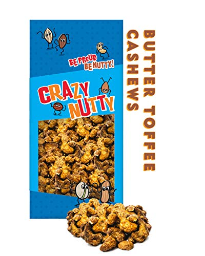 Butter Toffee Cashews - 1 Pound - Made with Real Delicious Toffee, Gluten Free, No Preservatives