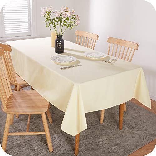 Amazon Brand - Umi Tischdecke Wasserabweisend Tischdecke Lotuseffekt Tischtücher 140x240 cm Creme