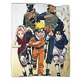 Manta de microfibra para viajes, anime Naruto Uzumaki Naruto Sasuke Uchiha Sakura Haruno Kakashi Hatake.. Manta de algodón transpirable de 150 x 200 cm