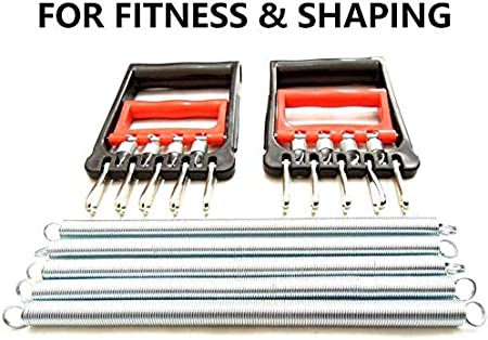 Healway Spring Chest Expander,Chest Expander Arm Training,Chest Expander with 5 Metal Springs,Chest Pull Exerciser,Chest Arm Expander,Strength Trainer Chest Expander
