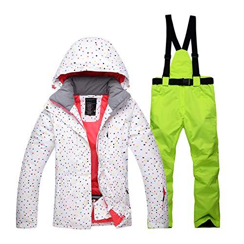 Aitry Combinaison de Ski pour Femme, Combinaison imperméable en Deux pièces, Veste Coupe-Vent et Veste imperméable Chaude et Respirante pour l'hiver, idéale pour la randonnée en Plein air