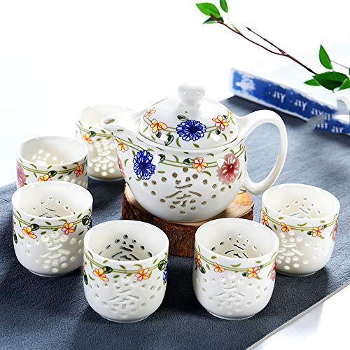 QCCOKNN Tetera de cerámica, taza de té, té hueco, tetera kungfu, ceremonia del té