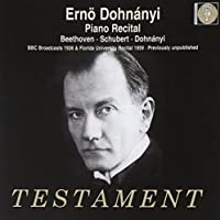 Piano Recital - Beethoven, Schubert by Erno Dohnanyi