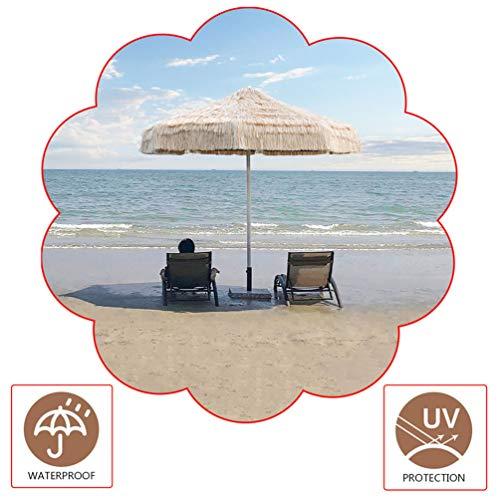 CYGG Grande Ombrellone di Paglia (ø8,8ft / ø10ft),ombrelloni da Giardino per Spiaggia/Piscina/Esterno,Stile Hawaiano