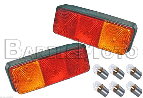 Lot de 2 feux arrière pour remorque avec ampoules incluses