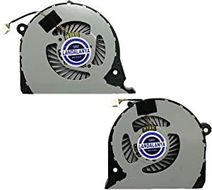 Landalanya Replacement New CPU+GPU Cooling Fan for Dell Inspiron 15 7577 7588 G5 15 5587 G7-7588 G7-7577 Vostro 15-7580 7570 P71F P72F Series DFS2000054H0T FK0D 5.97 CFM+DFS541105FC0T FK0F 5.51 Fan