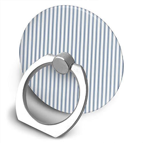 Soporte para teléfono celular, diseño de rayas estrechas en color azul oscuro y blanco, soporte de anillo de soporte para teléfono celular de forma redonda, soporte de metal giratorio 360 grados para serie de teléfonos