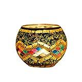 OSALADI Mosaico - Portavelas de cristal para decoración de bodas, Día de la Madre, Día ...