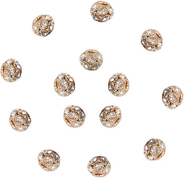 NBEADS 30 Pcs 12mm Light Gold Pave A Br Crystal Grade SALENEW very popular! New Orleans Mall Rhinestone