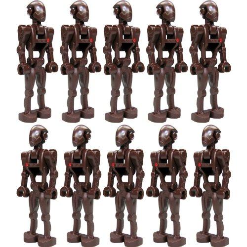 LEGO Star Wars Figur: kleine Armee mit 10 Stück Commando Droid (aus Bausatz 9488) mit Blastern