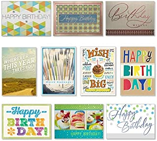 Hallmark Business Birthday 50 Pack Assorted Cards for Employees or Customers (Pack of 50 Assorted Greeting Cards for Business)