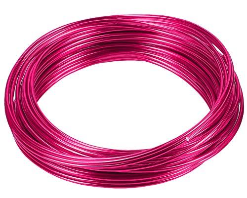 mumbi 10m Basteldraht 2mm, Schmuckdraht Aludraht Dekodraht Aluminiumdraht rostfreier Draht in Rosa