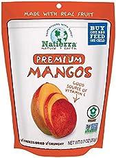 NATIERRA Premium Freeze-Dried Mangoes | Non-GMO & Vegan | 0.7 Ounce (Pack of 8)