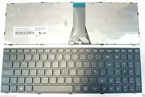 Wab New Replacement Keyboard Compatible For Lenovo Ideapad G50 70 G50 30 G50 45 G50 80 G70 35 Z50-70 B50-45 B50-30 B50-70 M50 70 G50-30 G50-40 G51-35 Layout UK Laptop Keyboard Black