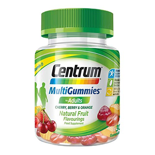 1 x 30 Tablets Centrum Mulivitamins Fruit Gummies Chewable Adult Two a Day