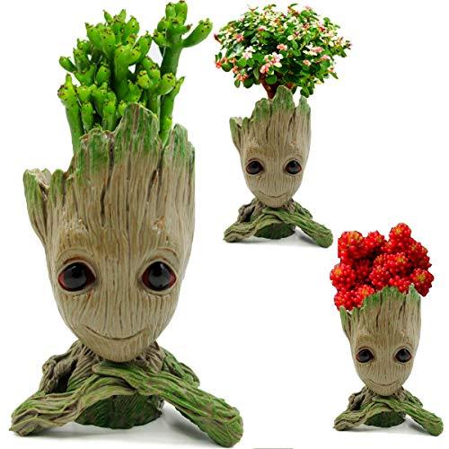 Arbusb Office Decor Grut Planter Pot for Tiny Succulents Plants Pots or Pens...