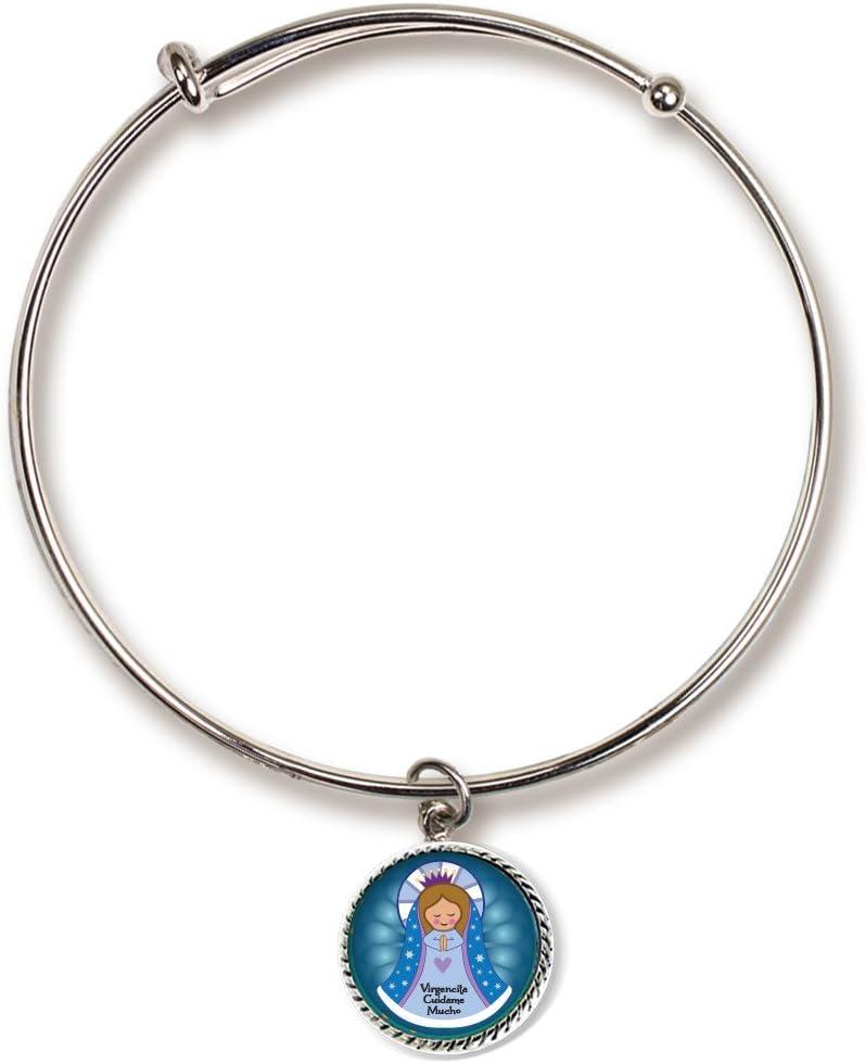 Cathedral Art (Abbey & CA Gift Blue Virgencita Charm Bracelet, Multicolor