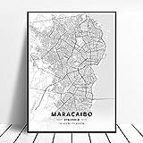 HD-Druck Caracas Maracaibo-Venezuela Leinwand Malerei