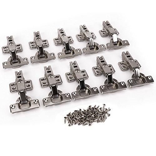 10 x Topfband Eckanschlag Topfbänder mit Dämpfer + Kreuzplatte Scharnier Scharniere Topfscharniere