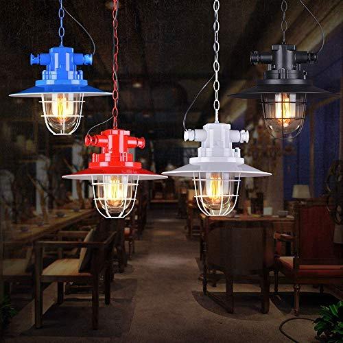 XXYHYQHJD Loft Industrial Colgando luz E27 Edison Luces Pendientes Restaurante Bar Decoración de Luces Luces de Techo Colgante de luz (Color : Blanco)