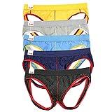 LandFox-Intimo Slip Uomo Underwear Costume Striscia Mutande Morbide Mutande Pantaloncini I...
