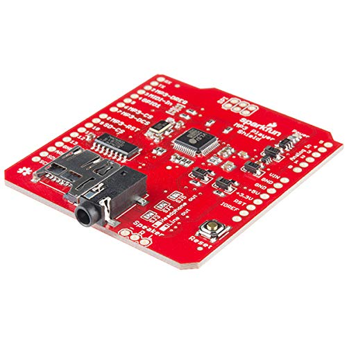SparkFun SF12660 MP3 Player Shield with VS1053B Decoder IC MicroSD Card Slot 3.5 mm Audio Out Jack 2.54 mm Spaced Speak Out Header