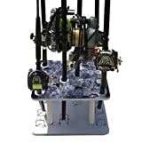 Reel Salty Offshore/Inshore Saltwater 10 Fishing Rod Holder - Bent Butt Marine Grade Dock/Garage Storage Rack - Waterproof