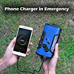 RunningSnail Solar Crank NOAA Weather Radio for Emergency with AM/FM, Flashlight, Reading Lamp and 2000mAh Power Bank…
