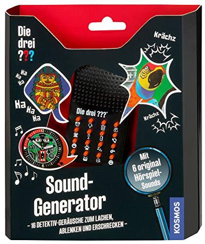 KOSMOS Die drei ??? Sound-Generator, mit 16 Detektiv-Geräuschen zum Lachen, Erschrecken und Ablenken. Detektivspielzeug, Detektiv Ausrüstung, Detektiv Set, Mitbringsel Kindergeburtstag