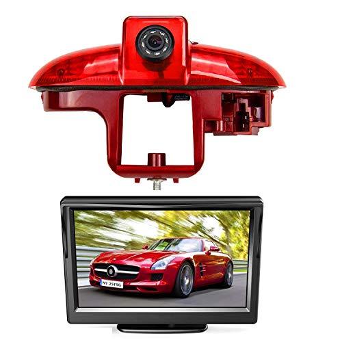 HD 720p Rückfahrkamera für Renault Trafic Opel Combo Opel Vivaro Nissan Primastar Fiat Talento 2001–2014, 3. Bremslicht Rückfahrkamera-Set, mit 12,7 cm LCD-Monitor, wasserdicht, Nachtsicht